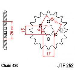 ΓΡΑΝΑΖΙ ΚΙΝ. JT 252 - 12 ΔΟΝΤΙΑ C-50/C-70 [B]